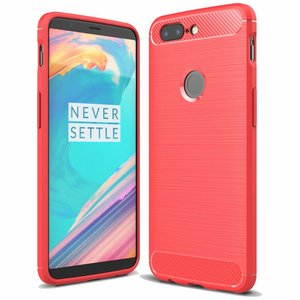 OPPRO Carbon Fiber Design Case Red OnePlus 5T