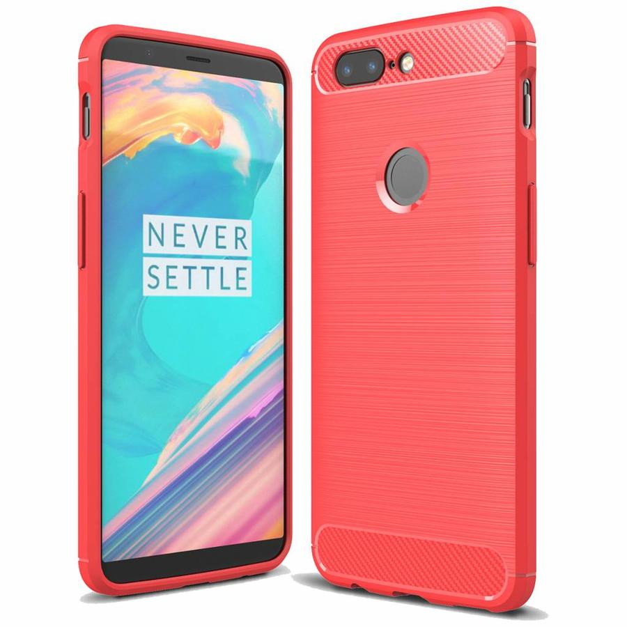 Carbon Fiber Design Case Red OnePlus 5T