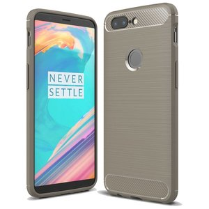 OPPRO Carbon Fiber Design Case Gray OnePlus 5T