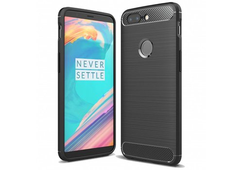 OPPRO Carbon Fiber Design Case Black OnePlus 5T