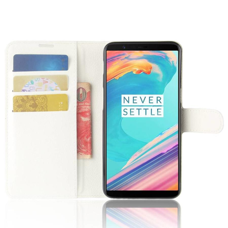 Wallet Flip Case White OnePlus 5T