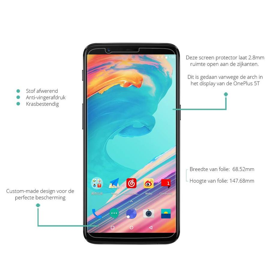 Ultra Clear Screen Protector OnePlus 5T
