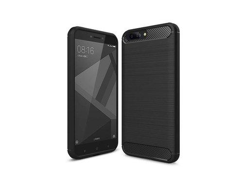 OPPRO Carbon Fiber Design Case Zwart OnePlus 5