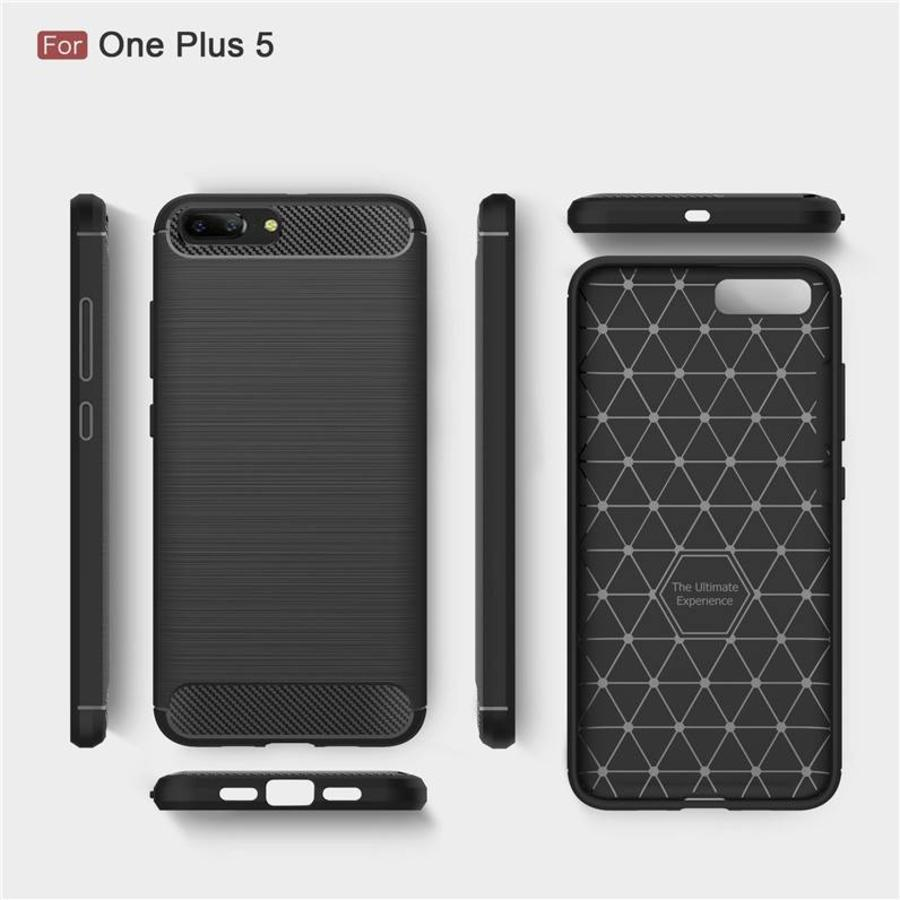 Carbon Fiber Design Case Black OnePlus 5