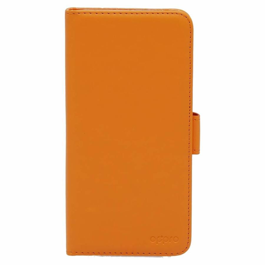 Wallet Flip Case Orange OnePlus 5