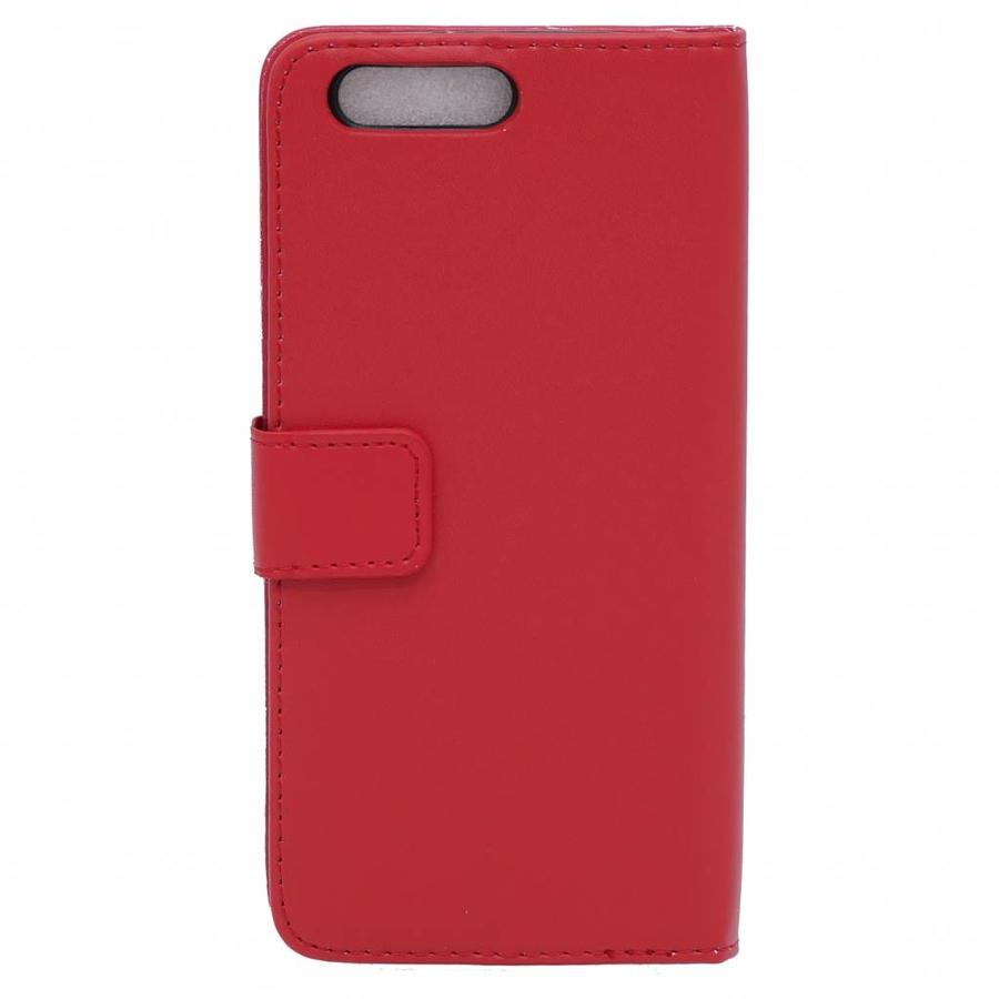 Wallet Flip Case Red OnePlus 5