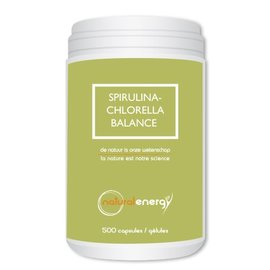 NATURAL ENERGY SPIRULINA-CHLORELLA BALANCE (500 CAPS)