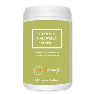 NATURAL ENERGY SPIRULINA-CHLORELLA BALANCE (500 CAPS)