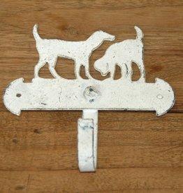Witte hondenhaakjes