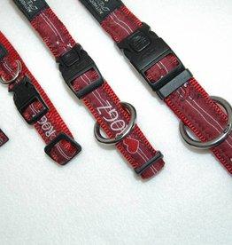 Rogz Red Heart halsband met riem