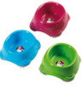 Plastic voerbak in frisse kleur