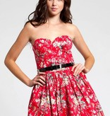 Adidas Red Floral Print Dress