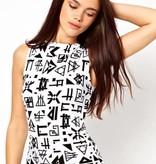 Denim Retro-Stil Sommer Mitte Kleid
