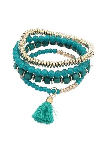 Bohemian armcandy green
