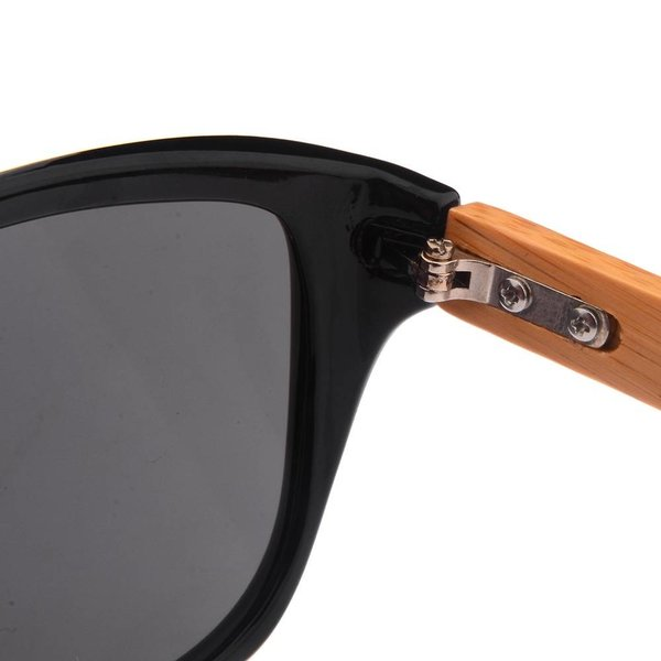 Half Bamboo Sunglasses (shiny black)
