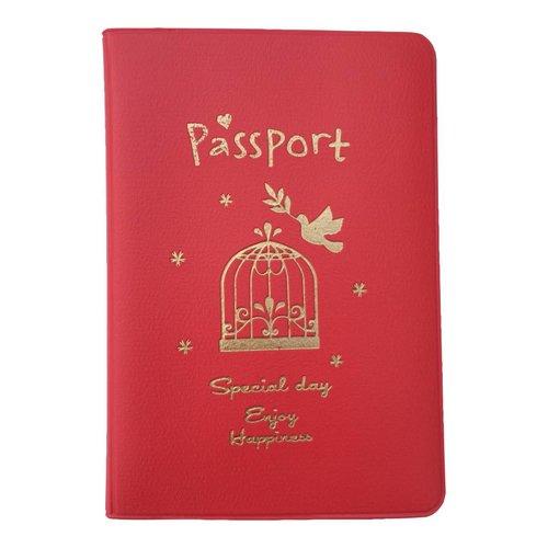 Rood paspoorthoesje