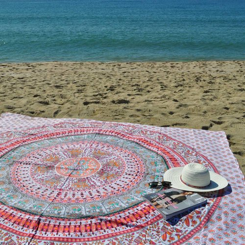 Lola Nomada Mandarina Summer Beach Throw