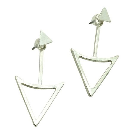 Triangle double side zilver