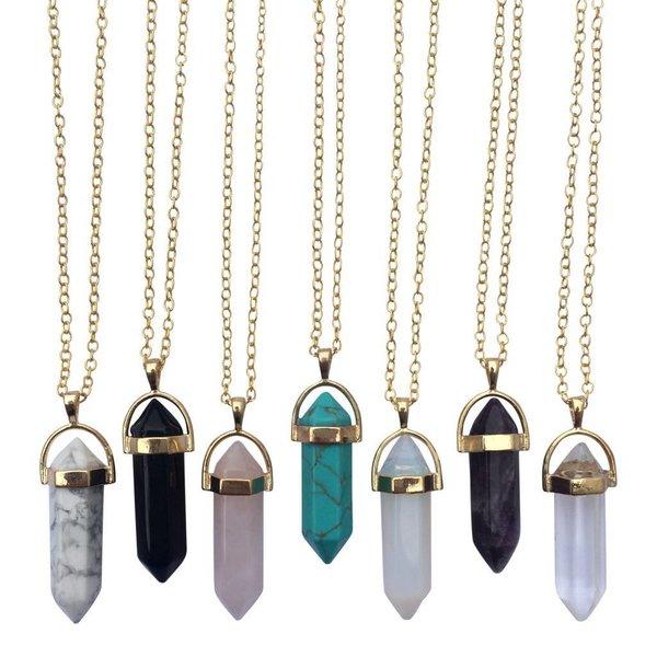 Gemstone ketting Opal zilver