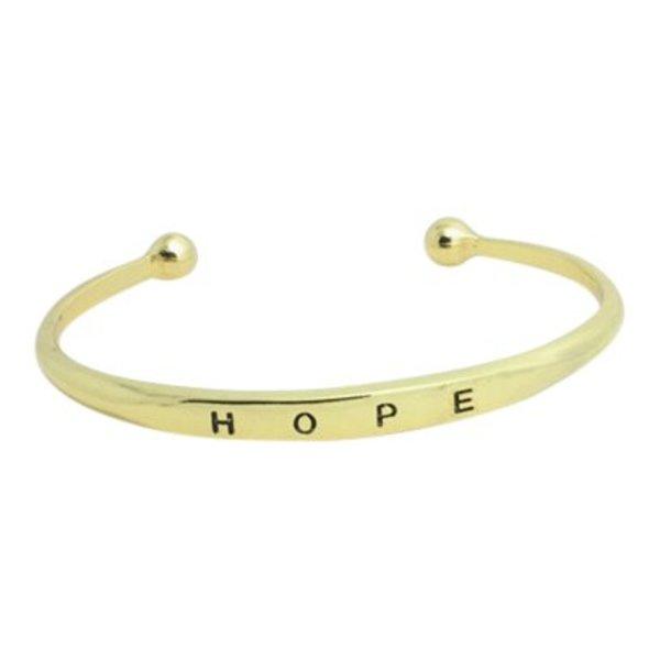 Hope bangle goud
