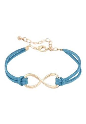 Infinity armband blauw