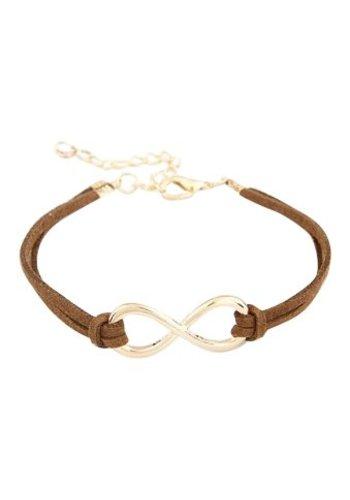 Infinity armband bruin