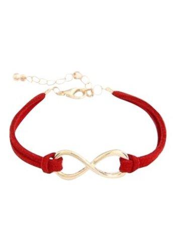 Infinity armband rood