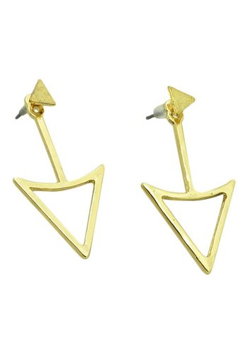 Triangle double side goud