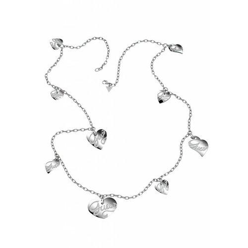 GUESS Hartjes ketting zilver USN80902