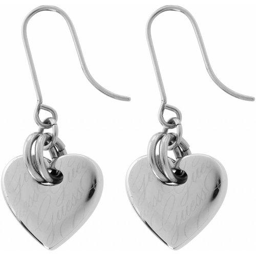 GUESS Zilveren hartjes oorbellen USE11102