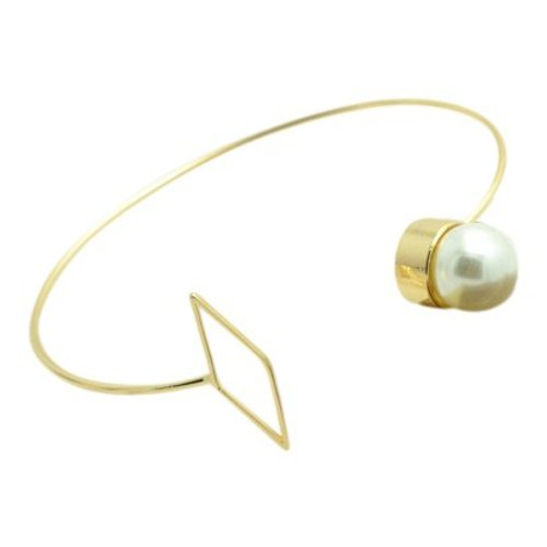Pearl bangle goud