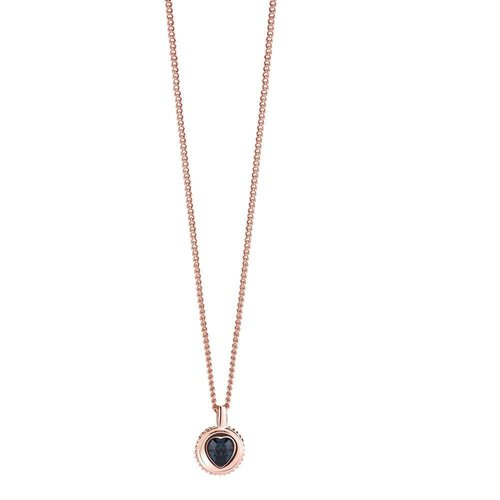 GUESS Coins of love heart ketting blauw UBN21532