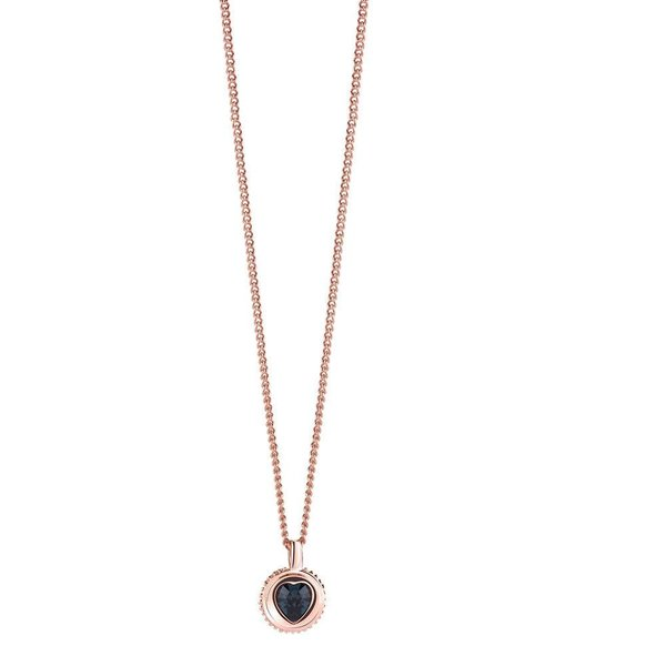 Coins of love heart ketting blauw UBN21532