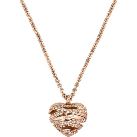 GUESS Wrapped with love rosé goud ketting UBN21620