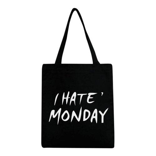Canvas tas Monday zwart