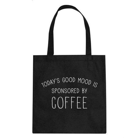 Canvas tas zwart Coffee Time