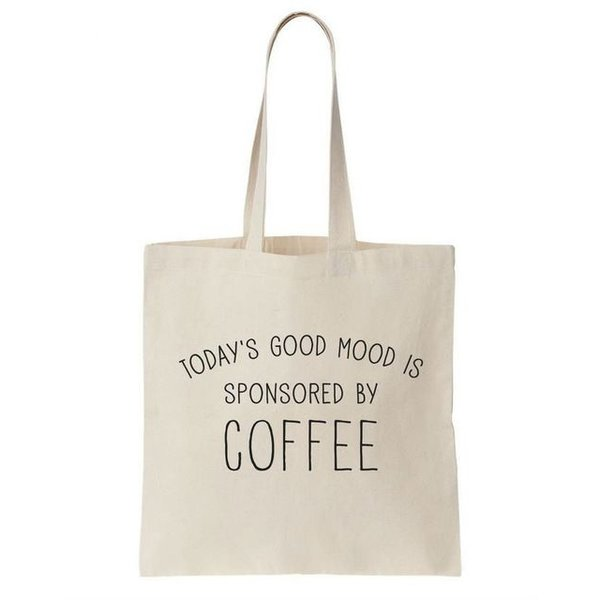 Canvas tas wit Coffee Time
