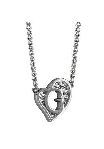 GUESS G heart zilveren ketting UBN71536