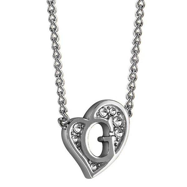 G heart zilveren ketting UBN71536
