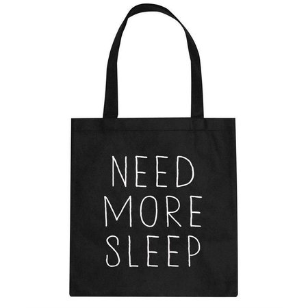 Canvas tas zwart need more sleep
