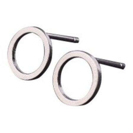 Circle stud zilver