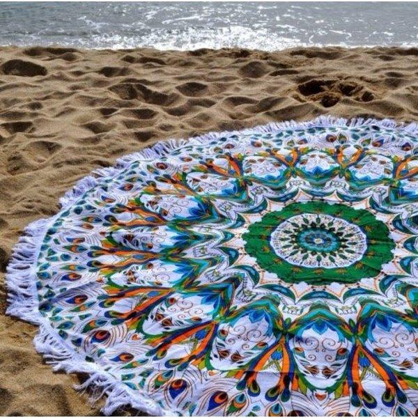 Dune Fringe Multicolor Summer Beach Roundie