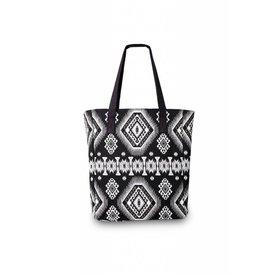 "Lola Nomada ""Shop till YOU drop"" shopper-black & white"