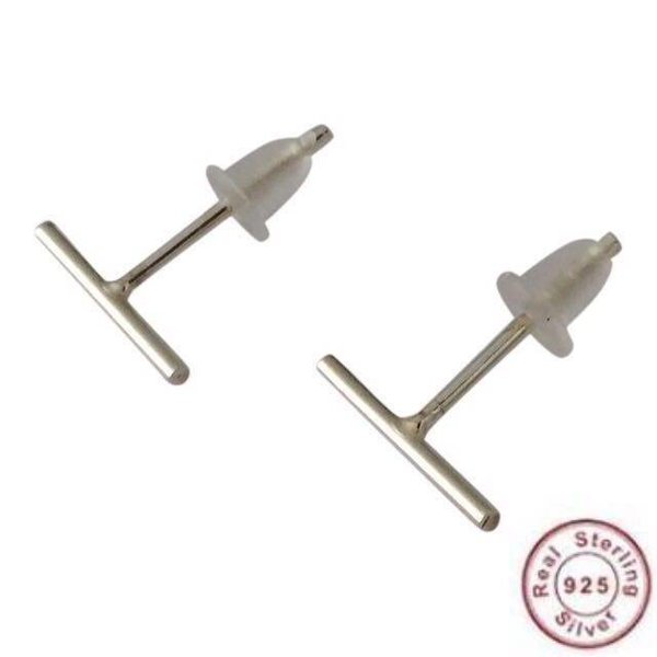 Bar stud 925 sterling silver
