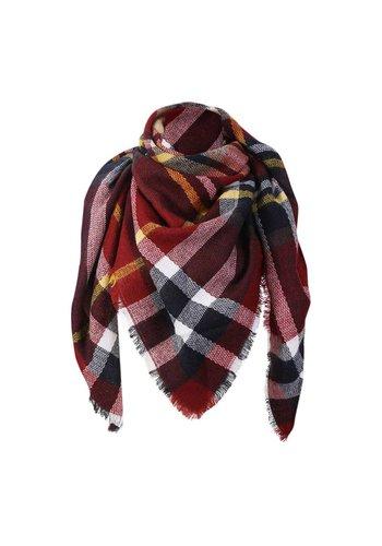 Triangle sjaal rood