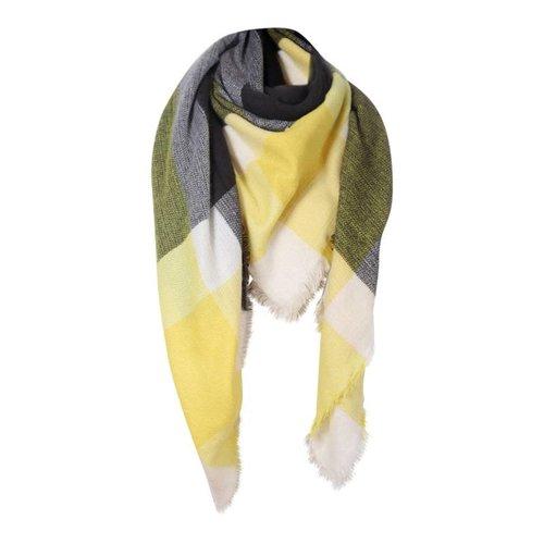 Triangle sjaal geel
