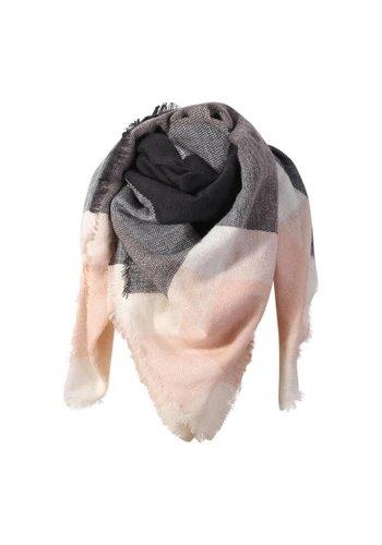 Triangle sjaal roze