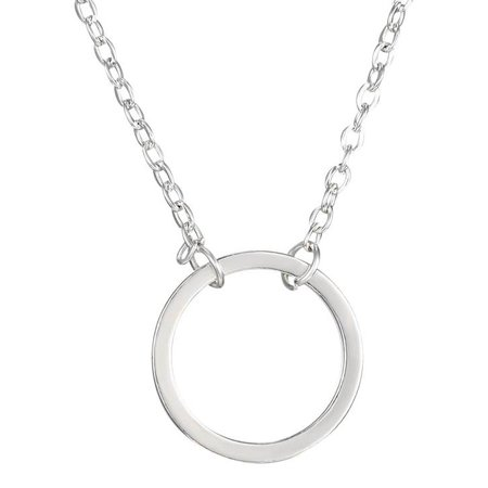 Perfection of a circle ketting zilver