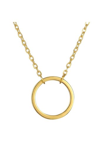 Perfection of a circle ketting goud