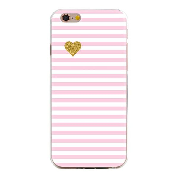 Gold heart iPhone hoesje